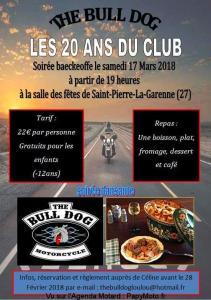 The Bull Dog Les 20 ans du club - Saint Pierre La Garenne (27) @ Salle des Fêtes | Saint-Pierre-la-Garenne | Normandie | France