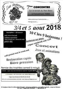 7e Concentre - Les Insurgés - Francalmont (70) @ Terrain du Pont Blanc | Francalmont | Bourgogne Franche-Comté | France
