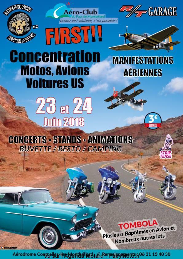Concentration Motos, Avions, Voitures US – Courcelles-lès-Montbéliard (25)