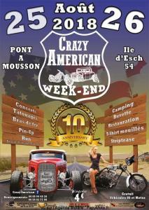 Crazy Américan Week-End - Pont A Mousson (54) @ Ile d'Esch | Pont-à-Mousson | Grand Est | France