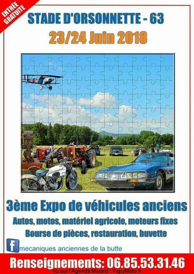 3e Expo de véhicules anciens – Orsonnette (63)