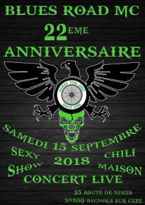 22e Anniversaire – Blues Road MC – BAGNOLS-SUR-CÉZE (30) @ 25 Route de Nimes | Bagnols-sur-Cèze | Occitanie | France