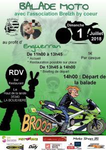 Balade Moto Breizh by Coeur – Bouëxiere (35) @ Le Haut de la Lande | La Bouëxière | Bretagne | France