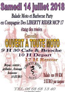 Balade Moto et Barbecue Party - Liberty Rider - Genouillé (17) @ Etang des Rosées | Genouillé | Nouvelle-Aquitaine | France