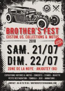 Brother's Fest 2018 - Anjoutey (90) @ Zone de la Noye | Anjoutey | Bourgogne Franche-Comté | France