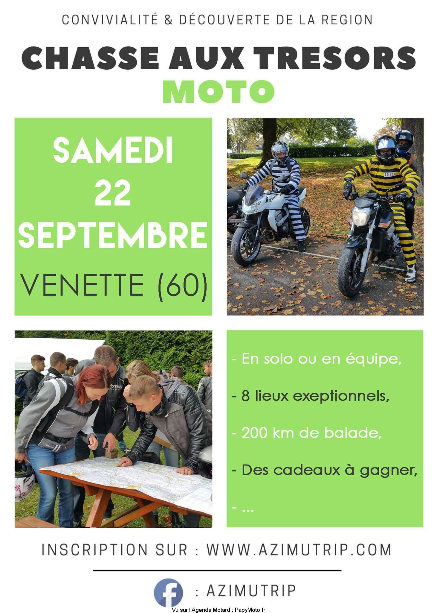 Chasse aux trésors MOTO  – Venette (60)