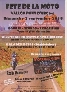 Fête de la Moto - Vallon Pont d'Arc (07) @ Parking Neruda | Vallon-Pont-d'Arc | Auvergne-Rhône-Alpes | France