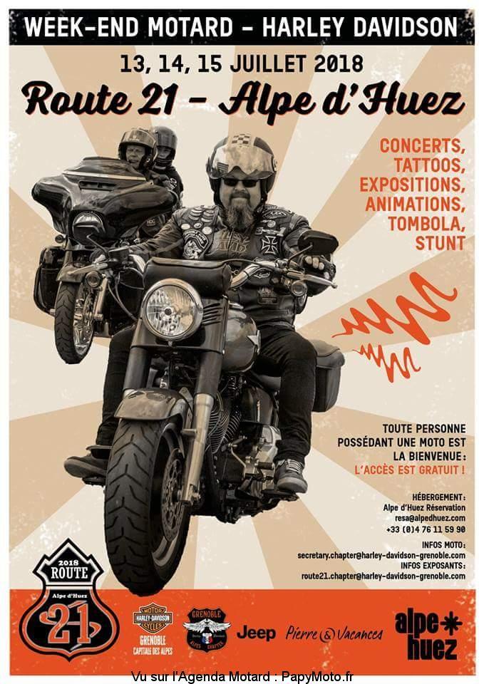Week-end Motard – Harley Davidson – Alpe d'Huez (38)
