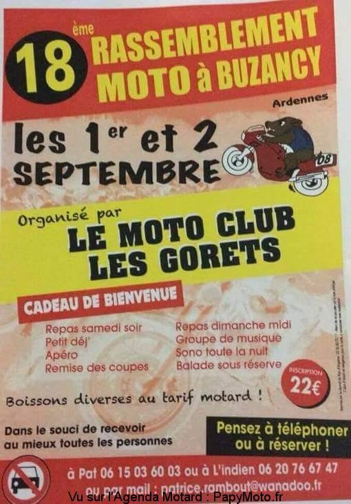 18e rassemblement Moto - Moto Club les Gorets - Buzancy (08)