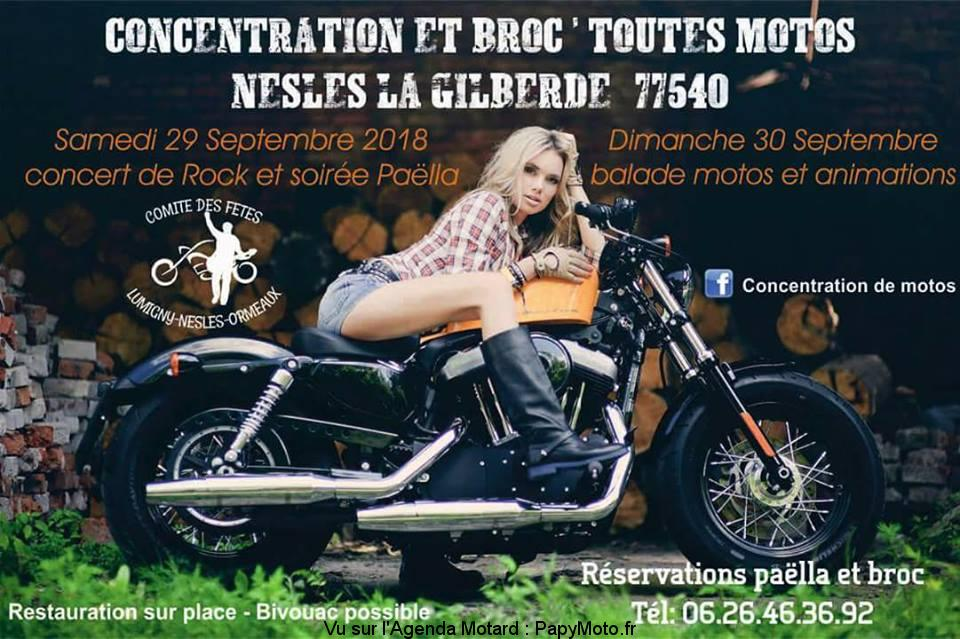 Concentration et Broc' toutes Motos – Nesles la Gilberde (77)