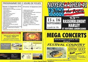 13e Rassemblement Harley et voitures américaines - Noyer sur Cher (41) @ Noyer sur Cher (41) | Noyers-sur-Cher | Centre-Val de Loire | France