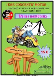 1e Concentr' Motos – Chocques (62) @ Chocques (62)    Chocques   Hauts-de-France   France