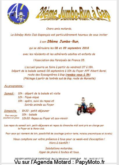 28e Jumbo-Run – Génépy Moto Club – Gap (05)