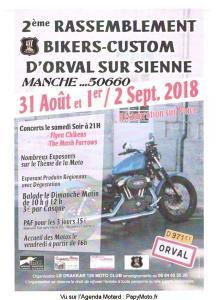 2e Rassemblement Bikers -Custom - Orval Sur Sienne (50) @ Orval sur Sienne | Orval | Normandie | France