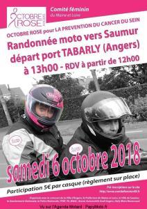 Randonnée Moto Octobre Rose - Angers (49) @ Port Tabarly | Angers | Pays de la Loire | France