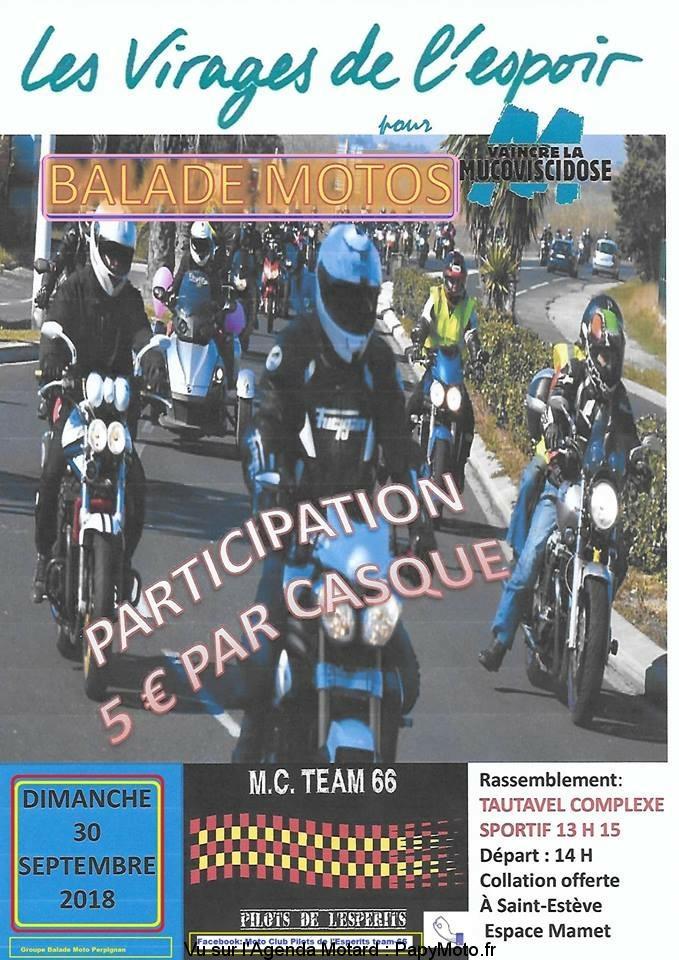Balade Moto les virages de l'espoir – Tautavel (66)