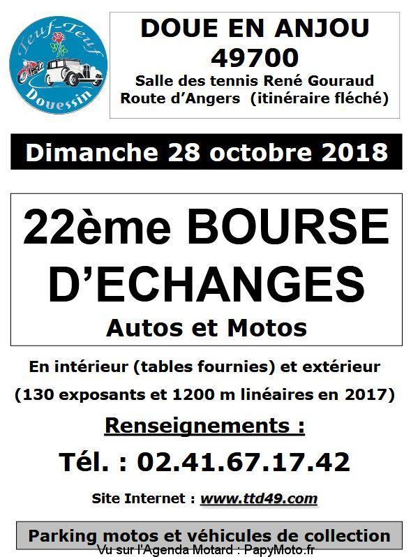 22e Bourse d'échanges Autos et Motos - Doue en Anjou (49)