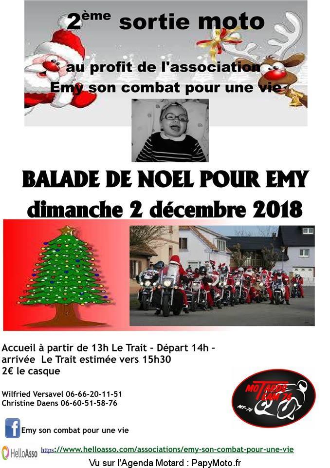 2e sortie moto – Balade de Noel por Emy- Motards Team 76– Le Trait (76)