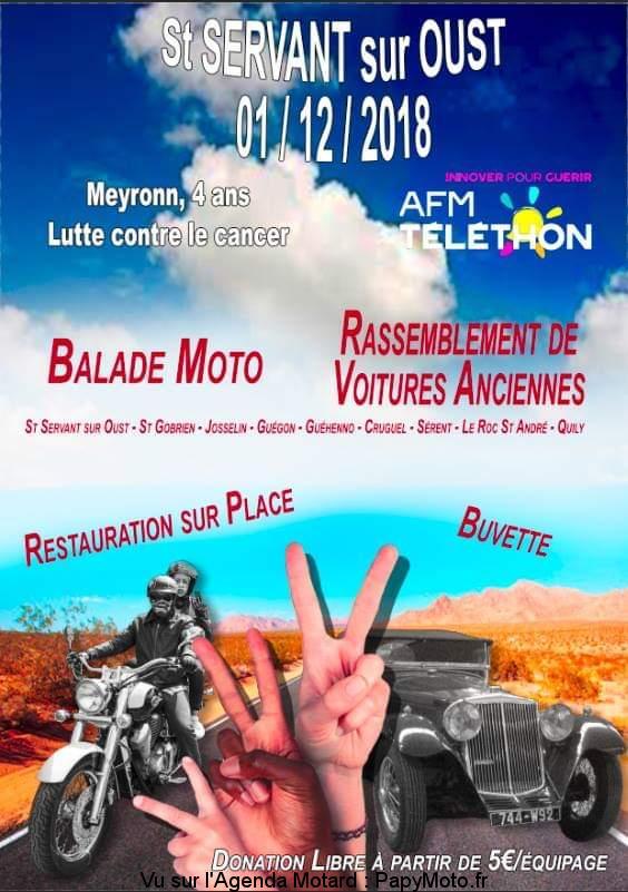Balade Moto -  - Saint Servan sur Oust (56)