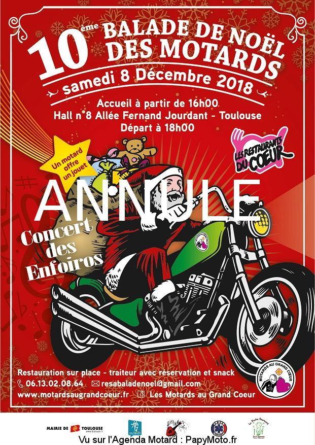 La Balade de Noël – Les motards au grand coeur – Toulouse (31)
