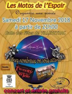 Soirée - Les Motos de l'Espoir - Villeveyrac (34) @ Salles des fêtes | Villeveyrac | Occitanie | France