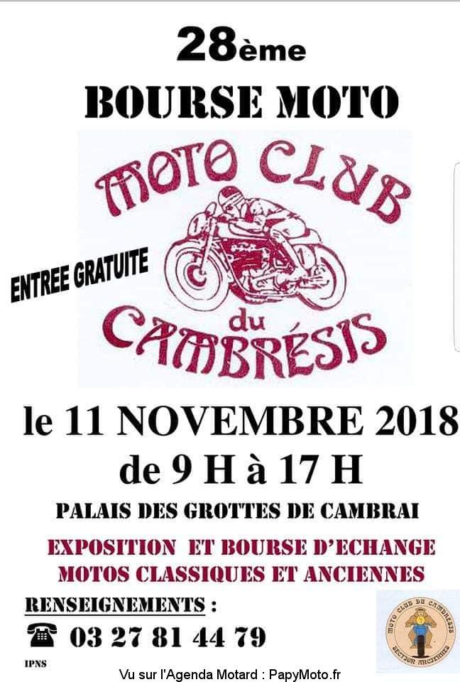 28e Bourse Moto – Moto Club du Cambrésis – Cambrai (59)