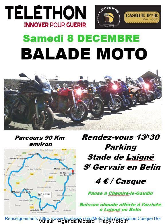 Balade Moto - Téléthon - Saint Gervais en Belin (72)