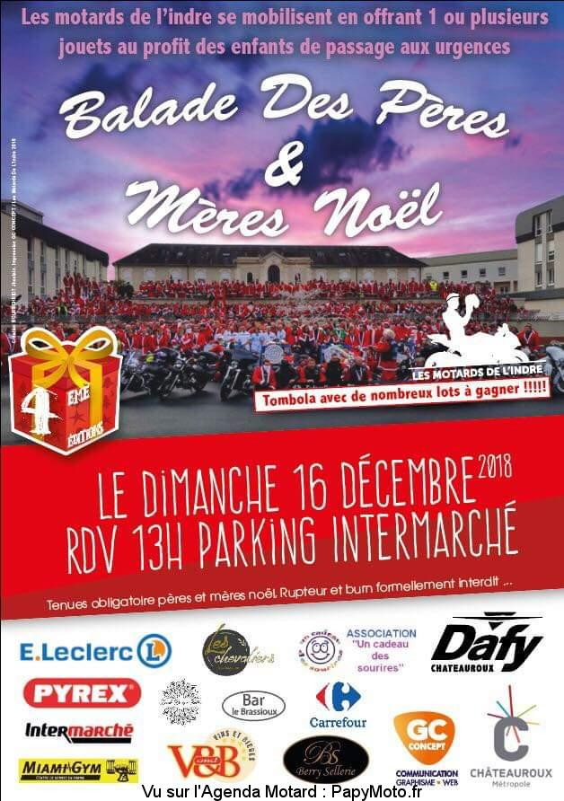 Balade de Pères & Mères Noël - Les motards de l'Indre – Chateauroux (36)