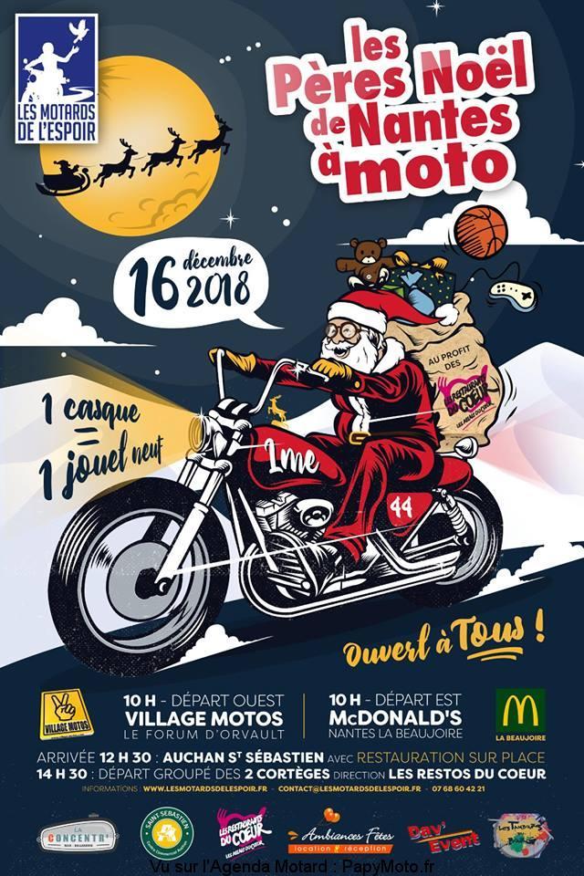 Les Pères Noël de Nantes à Moto – Les Motards de l'Espoir -Nantes (44)