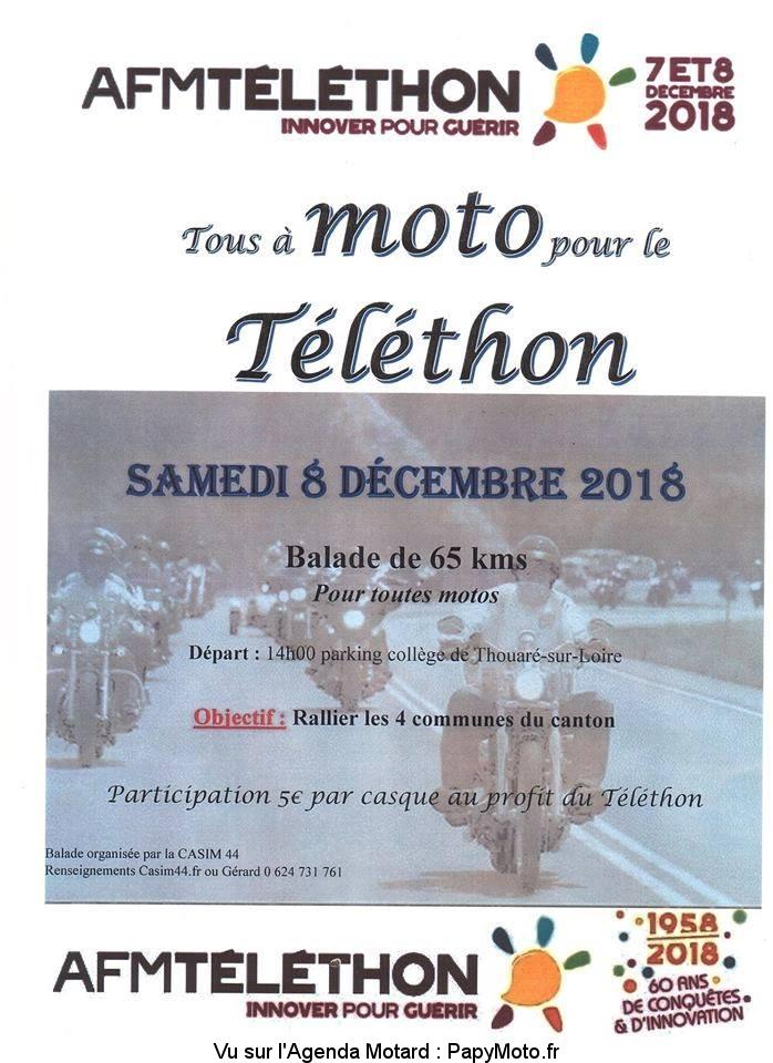 Tous à Moto pour le Téléthon – Thouaré-sur-Loire  (44)