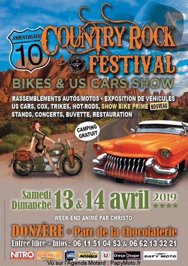 10e Country Rock Festival – Bike et Us Cars Show -Donzère (26)