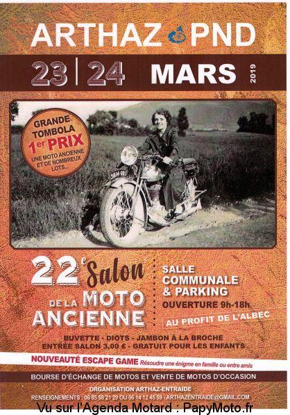 22e Salon de la Moto Ancienne – Arthaz-Pont-Notre-Dame (74)