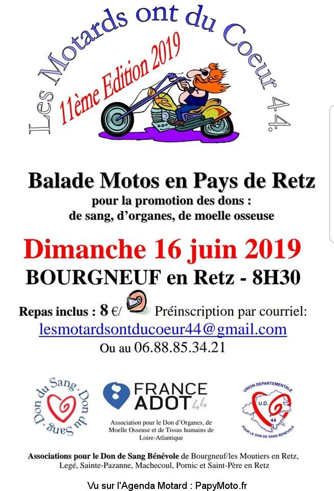 Les Motards Ont Du Coeur : motards, coeur, Balade, Motos, Motards, Coeur, Bourgneuf, PapyMoto.fr