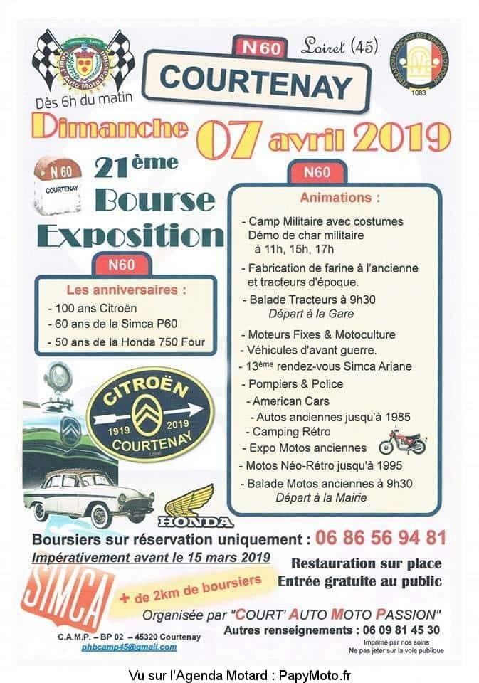 21e Bourse Exposition – Court' Auto Moto Passion – Courtenay (45)