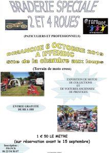 Braderie spéciale 2 et 4 Roues - Iffendic (35) @ La Chambre aux Loups