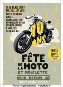 Fête de la moto et Mobylette – Saché (37) @ Etang de Maurux