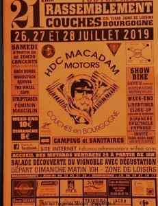 21e Rassemblement - HDC Macadam Motors - Couches en Bourgogne (71) @ Zone de Loisirs