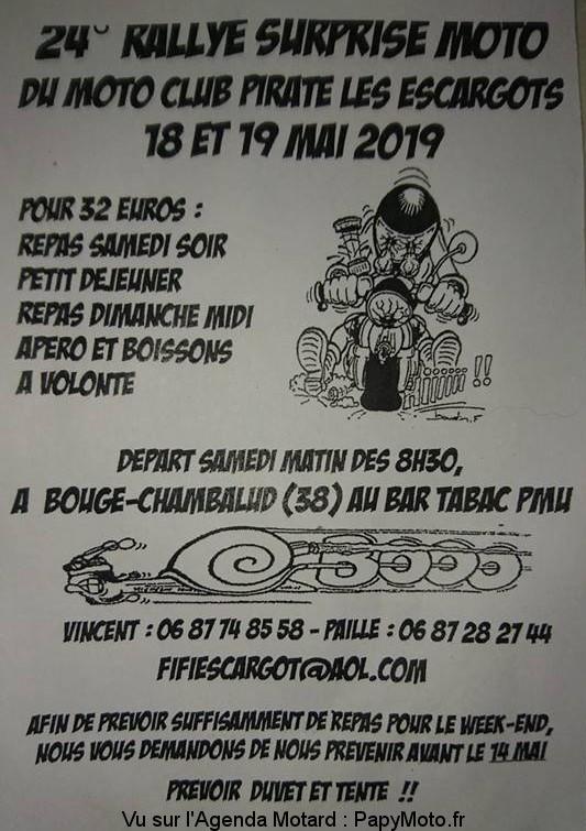 2'e Rallye surprise – MCP les Escargots – Bougé-Chambalud (38)