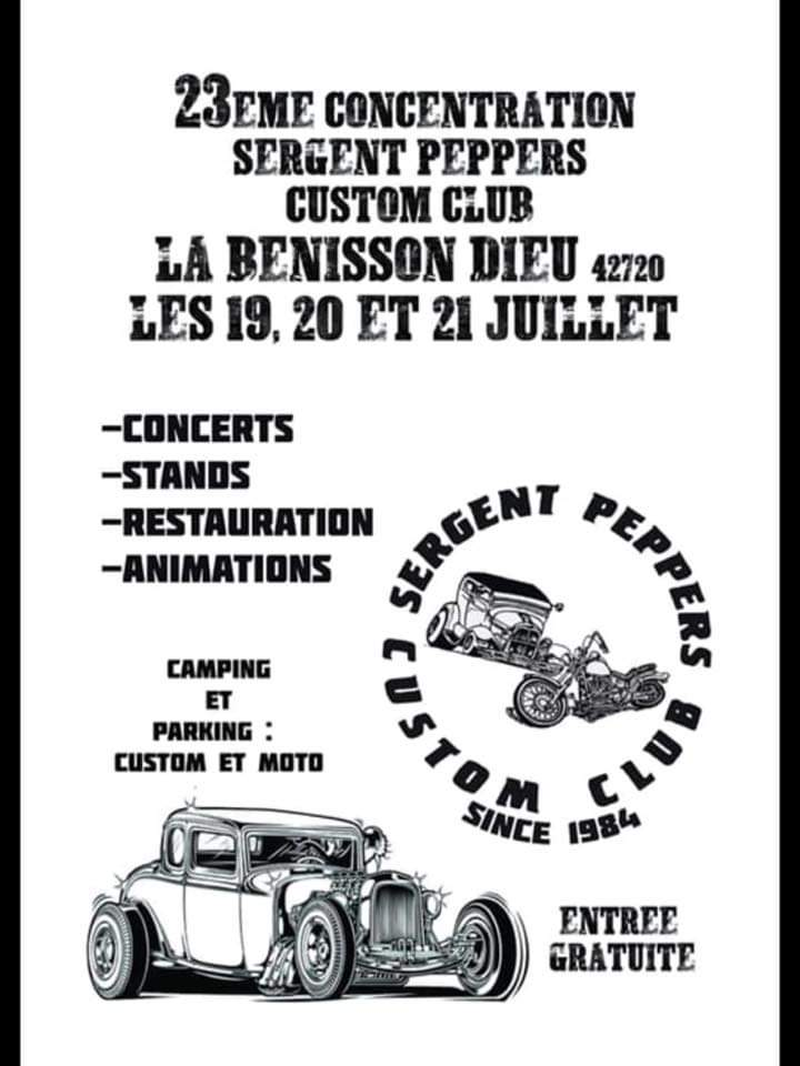 23 ème concentration Sergent Peppers Custom Club – La Bénisson-Dieu (42)