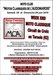 Motos Classiques de l'Audomarois - Week end Moto Classique - Circuit de Croix en Ternois (62) @ Circuit de Croix en Ternois (62)   Croix-en-Ternois   Hauts-de-France   France