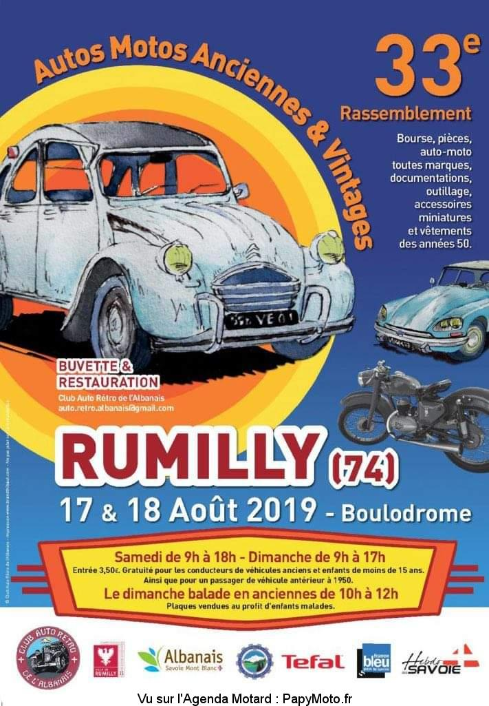 Autos Motos Anciennes & Vintages – Rumilly (74)