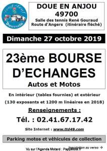 23e Bourse d'échanges Autos et Motos – Doue en Anjou (49) @ Salle de tennis René Gouraud | Doué-en-Anjou | Pays de la Loire | France