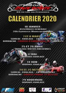 Calendrier 2020 - Moto Club Zone Rouge- Le Luc en Provence (83) @ Le Luc | Provence-Alpes-Côte d'Azur | France
