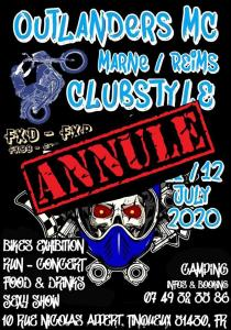 Clubstyle Meeting - Outlanders MC - Reims (51)----ANNULE----