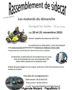 Rassemblement de sidecar - Les Motards du Dimanche - Souvigné Sur Sarthe (72) @ Souvigné Sur Sarthe (72)