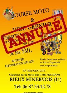 Bourse Moto & Vide greniers – Moto-club The Freedom – Rieux Minervois (11) ----ANNULE---- @ Rieux Minervois (11)