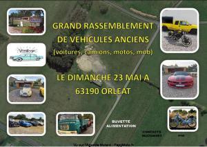 Grand rassemblement devéhicules anciens - Orléat (63) @ Orléat (63)