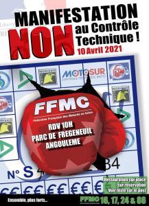 Manifestation NON au contrôle Technique - FFMC 16-17-24-86 - Angoulème (16)