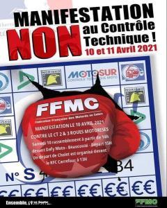 Manifestation NON au contrôle Technique - FFMC 49 - Cholet - Beaucouzé (49) @ Cholet - Beaucouzé (49)