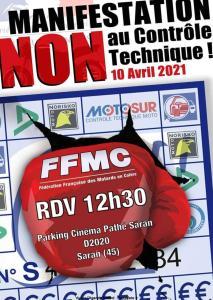 Manifestation NON au contrôle technique - FFMC 45 - Saran (45) @ Saran (45)